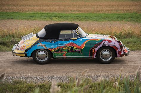 janis joplins psychedelic porsche sold  auction    car magazine