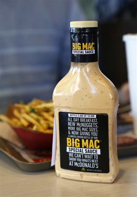 Mcdonalds Special Sauce Giveaway - big mac sauce ingredients the secret s out