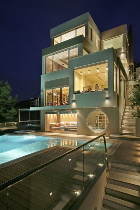 luxury contemporary homes modernist greek beach house modern home exteriors