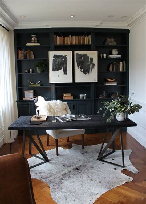 cozy home office 25 gorgeous home offices with black walls digsdigs