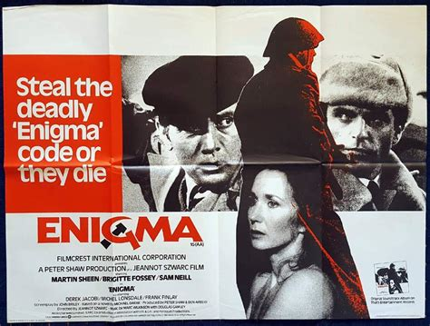 british film about enigma enigma original british quad movie poster sam neill martin