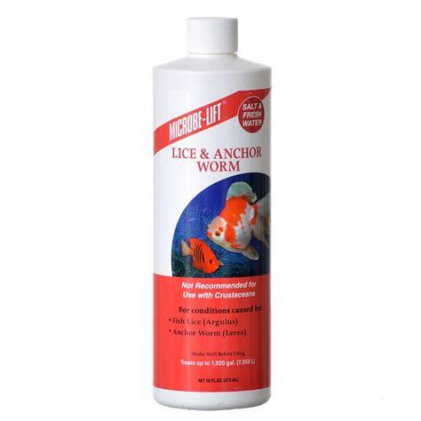 worm medicine microbe lift microbe lift lice anchor worm treatment external parasite aquarium