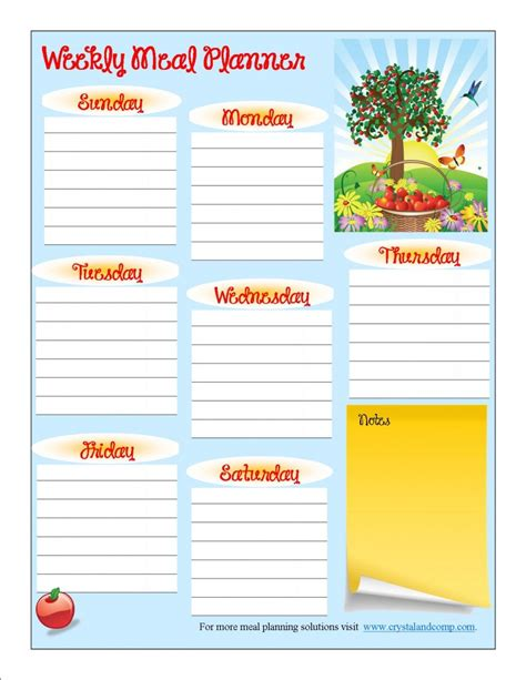 printable meal planner free printable dinner meal planner template for month