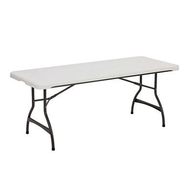 lifetime 6 commercial grade stacking folding table white