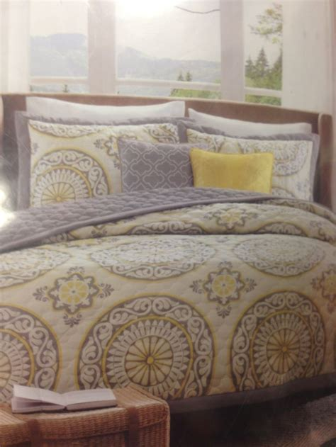 target bed spreads yellow and grey bedding target