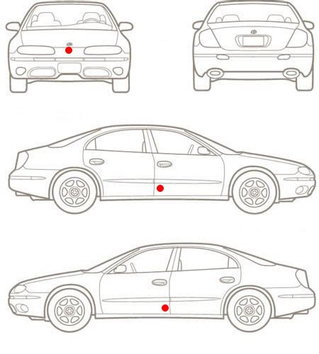 vehicle diagrams 6 best images of commuter damage inspection diagram