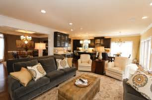 grey and gold living room remodel and new furnishings