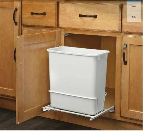 Sink Trash Can With Lid by Plastic Garbage Bin Rev A Shelf 20 Quart For Pull Out