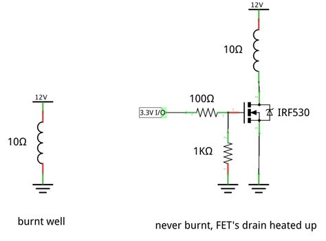 mosfet load resistor how to ignite resistor with n channel mosfet electrical engineering stack exchange