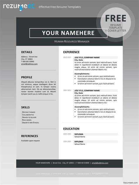 Clean Resume Template Free by Jordaan Clean Resume Template