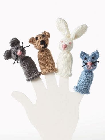 yarn kitty pattern bear bunny kitty and mouse finger puppet yarn free