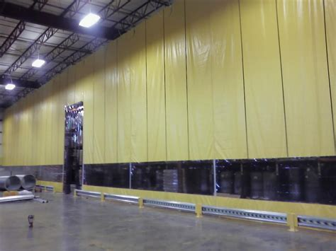 industrial roll up curtains curtain walls industrial partitioning carolina