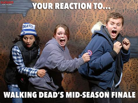 Walking Dead Finale Meme - new companion series to walking dead nightmares fear factory