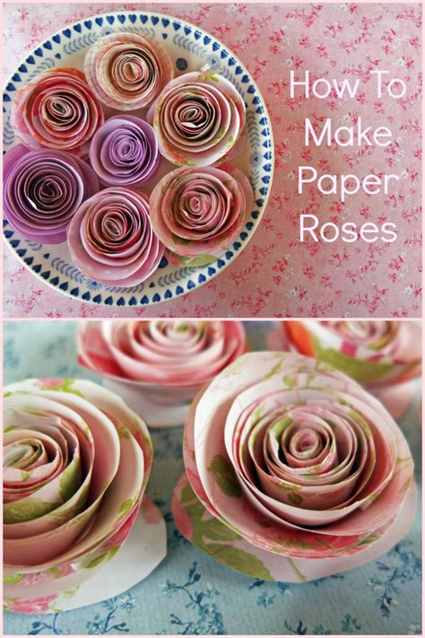 How To Make Beautiful Paper Roses - paper roses an easy craft tutorial for with