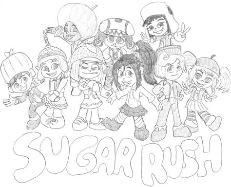 sugar rush racers coloring pages wreck it ralph racers free coloring pages