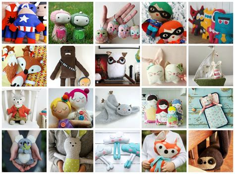 Handmade Stuffed Animal Sewing Patterns - 27 adorable free sewing patterns for stuffies plushies