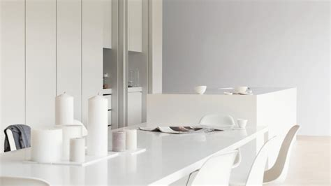 warmth to white kitchens with silver grey dulux