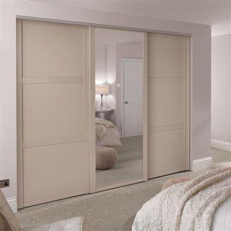 Howdens Wardrobes - shaker panel sliding wardrobe door howdens