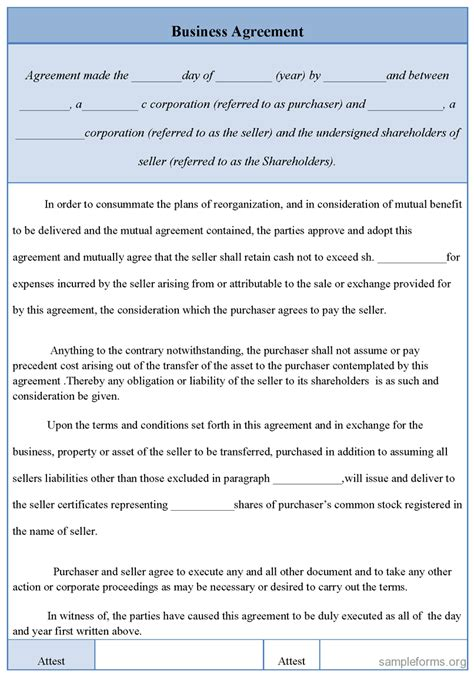 Sle Letter Of Agreement Photography business contracts templates mughals