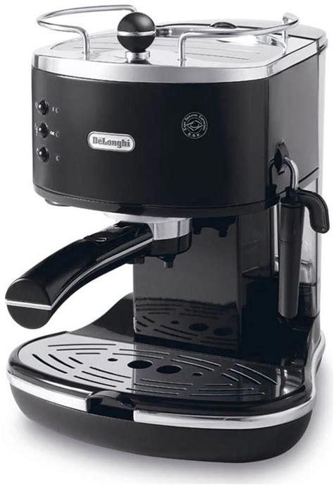 delonghi ecov 311 bk icona vintage schwarz lederoptik espresso machine computeruniverse