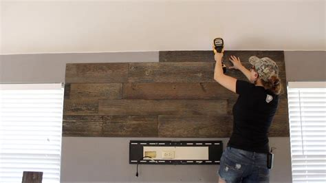 diy wood wall  floating shelves youtube