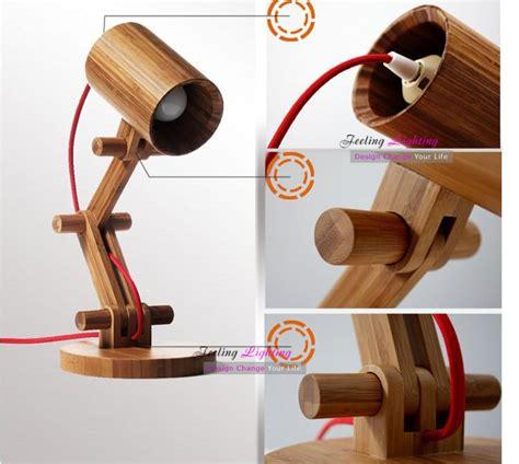 Creative Diy Wood Ls Free Shipping Diy Creative Fashion Design Original Wood Table L Contemporary White Shade