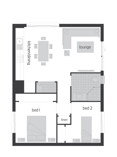 floor plan flat granny flats floorplans mcdonald jones homes