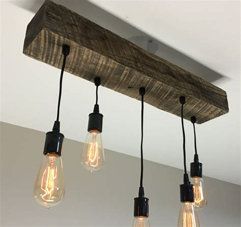 rustic beam light fixture 36 reclaimed barn timber beam light fixture with 6 by