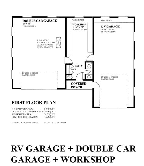 garage floor plans with workshop garage plan 76028 at familyhomeplans com