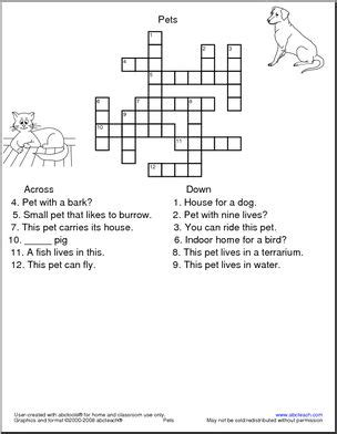 easy crossword puzzles printable animals pinterest the world s catalog of ideas