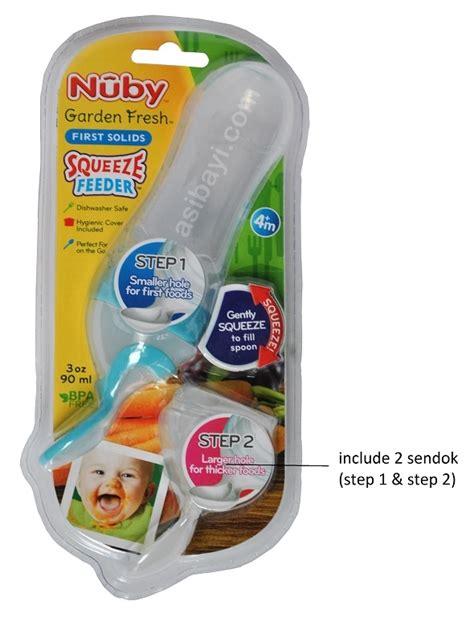 Nuby Fresh Garden Squeeze Feeder Botol Sendok Bayi nuby squeeze feeder garden fresh solids botol sendok mpasi