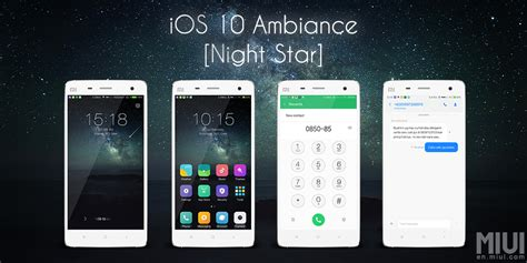 themes xiaomi note ios 10 ambiance an ios theme for xiaomi xiaomi ninja
