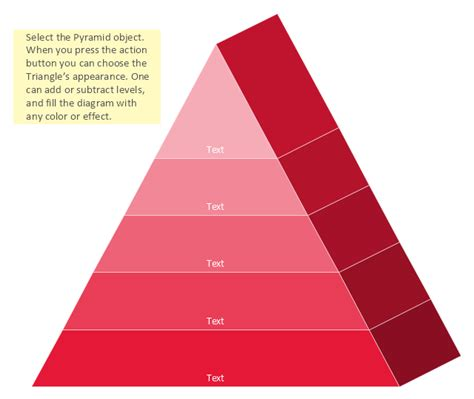 triangle hierarchy diagram pyramid diagram 3d triangle diagram template 3d