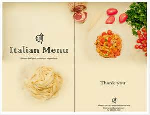 Italian Menu Templates italian food menu template format template