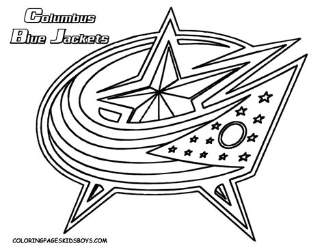 free coloring pages of nhl logo