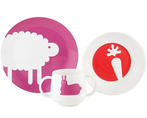 Pippin Park Tableware By Kate Spade by Simply Fab Kate Spade Pippin Park Three Feeding Set
