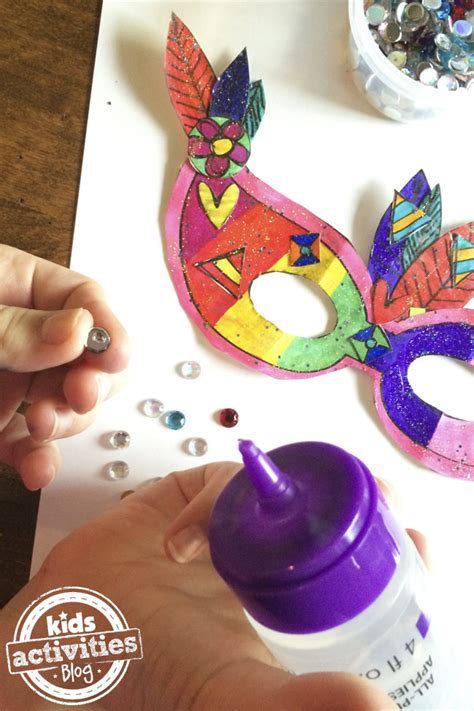 How To Make A Mardi Gras Mask Out Of Paper - printable mardi gras mask craft