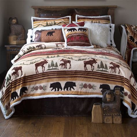 rustic comforters hinterland lodge bedding carstens rustic bedding