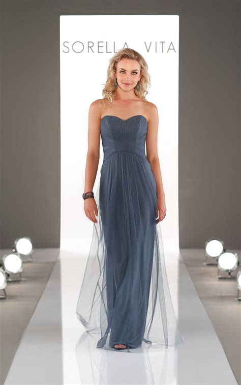 bridesmaid dresses long romantic ruched bridesmaid gown