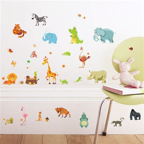 animal stickers for walls jungle animals wall stickers for rooms