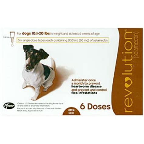 revolution dogs revolution for dogs 10 20 lbs 6 pack brown vetdepot