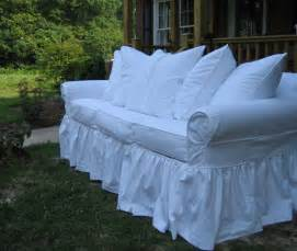 How To Slipcover A by Easy Detachable Sofa Ruffle Lazy Day Makeovers