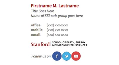 Email Signature Mba Student by Email Signature Stanford School Of Earth Energy