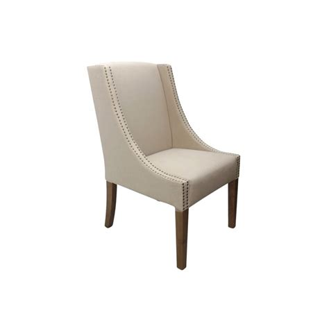 upholstered dining chair in linen