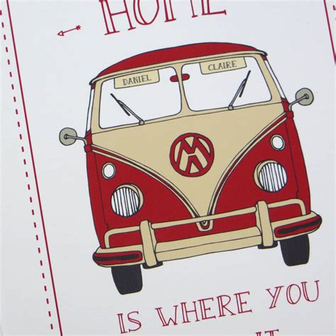home is where you park it cer print by wink