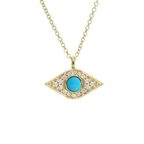 turquoise birthstone luxury enchanted evil eye yellow gold and