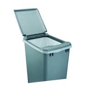 shop rev a shelf gray plastic kitchen trash can lid at