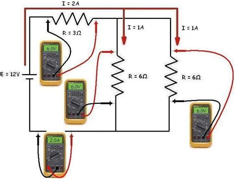 electric circuits with resistors in series and parallel measuring potential difference and current images