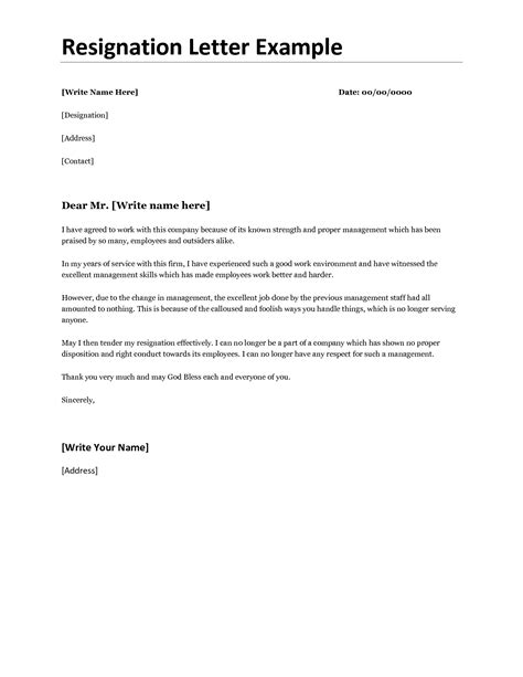 Basic Resignation Letter Doc Best Photos Of Proper Resignation Letter Format Best Resignation Letter Sles Resignation