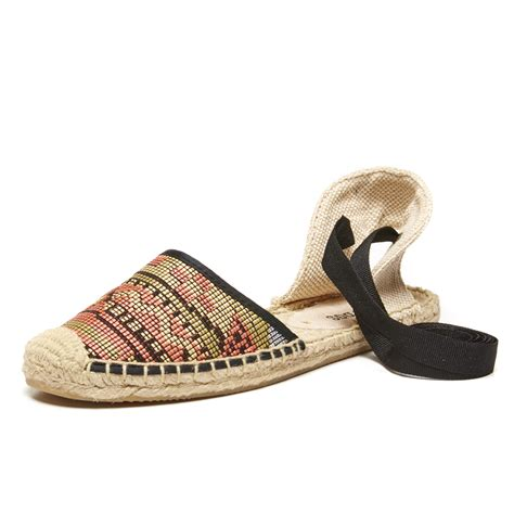 raffia sandals soludos black multi raffia classic sandal in beige black
